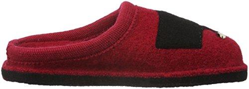 Haflinger Babsy, Ciabatte Unisexe Adultes Rosso (rouge (brique Rouge 85))