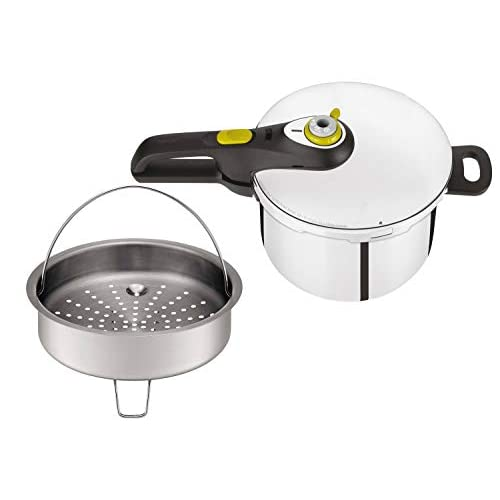 31H0RI77bML. SS500  - Tefal Secure 5 Neo Stainless Steel Pressure Cooker, 6 L, Induction