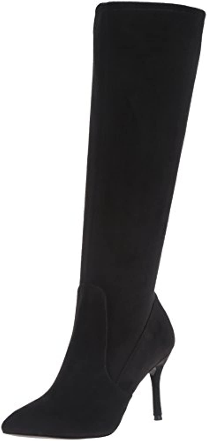 Nine West Calla Wide Calf Spitz Faux Wildleder Mode-Knie Hoch Stiefel