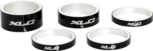 xlc-11-8-alloy-spacers-set-of-5-1-x-15mm-1-x-10mm-3-x-5mm-black
