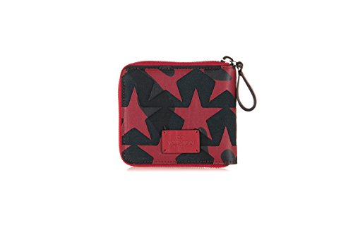 VALENTINO-Mens-Camustars-Leather-Canvas-Zip-Wallet-Red