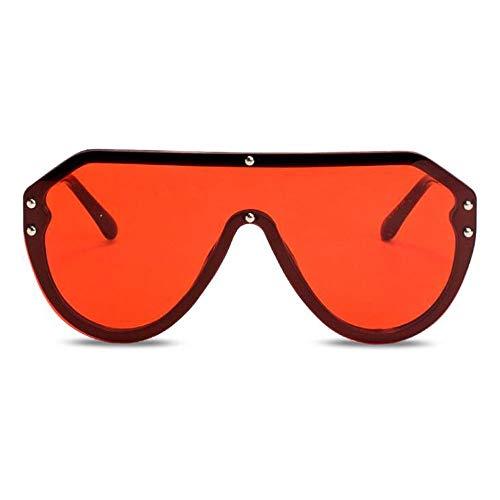 Szblk Driving Sonnenbrillen Polarisierte Sonnenbrillen Outdoor-Sonnenbrillen Sonnenbrillen for Herren und Damen Siamese Large Frame Sonnenbrillen (Color : Red)