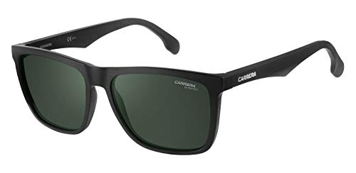 Carrera Unisex-Erwachsene 5041/S Qt Sonnenbrille, Schwarz (Matt Black/Green), 56