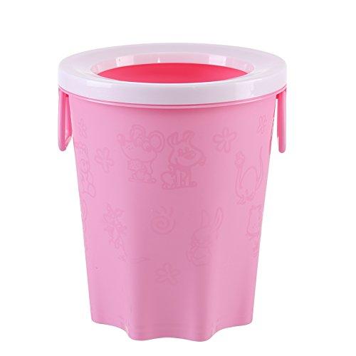 Das Büro mit Hochdruckreiniger Warenkorb Kunststoff keine Abdeckung Runde Küche Hygiene Eimer, Rosa