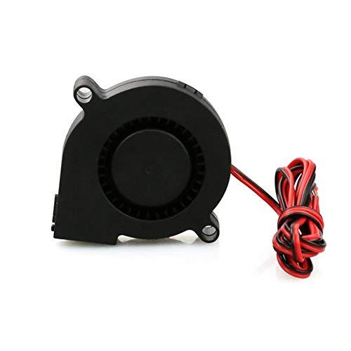 HoganeyVan 3D-Druck Teile Und Zubehör 3D-Druckerteile DC24V Lüfter Flüsterleise Turbine Kleines DC-Gebläse 5015 Für 3D-Druckerplatine DC12V 24V (3d-druck-teile)