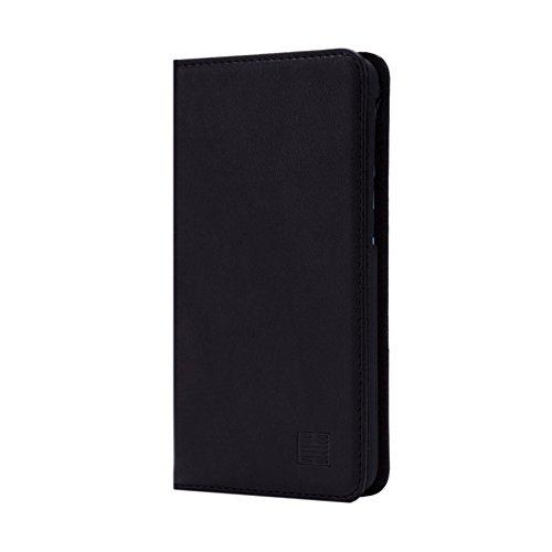 32nd Klassische Series - Lederhülle Case Cover für HTC Desire 626, Echtleder Hülle Entwurf gemacht Mit Kartensteckplatz, Magnetisch und Standfuß - Schwarz