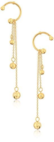 Rebecca Minkoff Linear Triple Sphere Gold Drop Earrings (Sphere Triple)