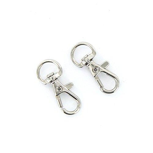 fablcrew Karabinerverschlüsse Swivel Haken für Schlüssel Split Ring DIY Craft Schmuckherstellung Zubehör 100
