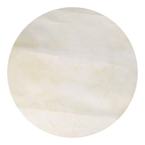 BQLZR Ersatzfell für Bongo Trommeln/Shaman Trommeln / 33 cm (13 Zoll) Afrikanisches Tamburin, Beige