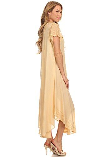 Sakkas täglichen Bedarfs Kappe Kaftan Kleid Hülse oder Vertuschung für Damen Beige