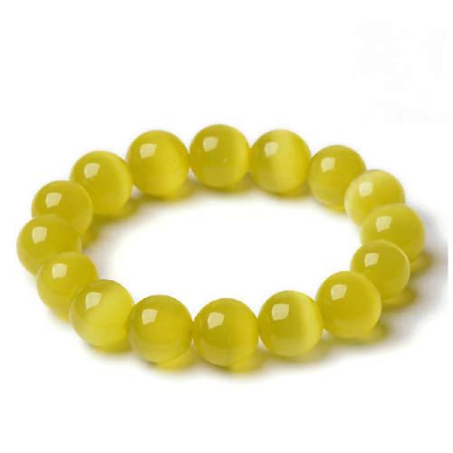 HMKLNOpal Armbänder Mode Frauen/Männer Hohe Qualität Gelb Opal Perle Strang Armband Schmuck Perle Größe 6-12 Mm Hohe Qualität Geschenke (Größe Leben Weihnachtsschmuck)