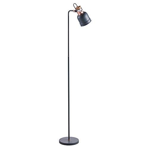 Versanora Lattine lampadaire lampe sur pied lampe de sol gris dorée