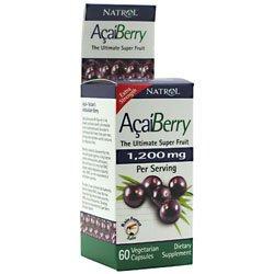 Natrol Acai Berry Extra Strength (1200mg, 60 Vegetarian Capsules) from Natrol