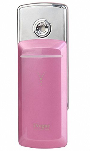 Nano Handy H2O Hydrating Facial Mist Atomizer Skin Revitalizer Refresher, Clear Radiant Moisture Skin in 30 Seconds!, Hot Pink by iVogue