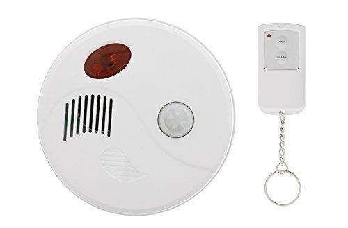 Profi Decken Bewegungsmelder + Alarm Sirene + Fernbedienung Set Überwachung Mini Alarmanlage Sicherheit Bewegungsalarm Büro Heim Werkstatt Lager