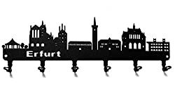 Hakenleiste Schlüsselbrett Skyline Erfurt * Schlüsselboard Thüringen