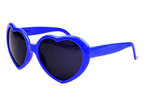 (Blau) Sonnenbrille - Herz - Damen - Lolita Style - Polarized Uv400 -
