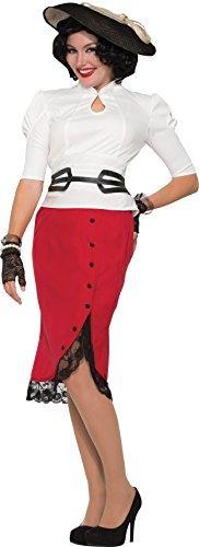 Damen Party Kostüm 1940's Bleistiftrock nur rot UK Größe 10-12