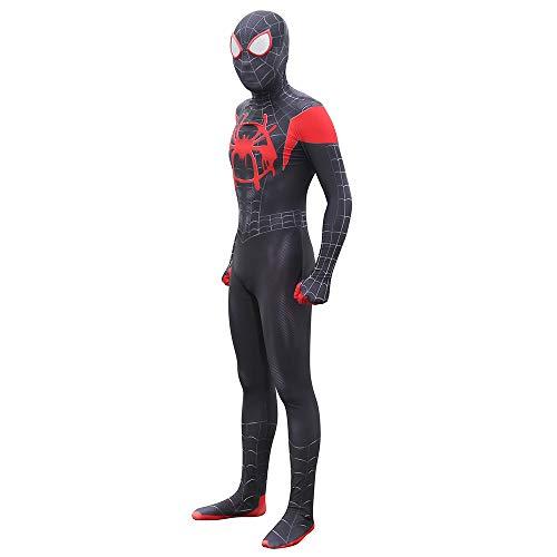 GBRALX Kostüm Spinnenmuster Heimkehr Cosplay Halloween Party Rollenspiel Kostüm Overall Bodysuit Film Cosplay,A-XXL