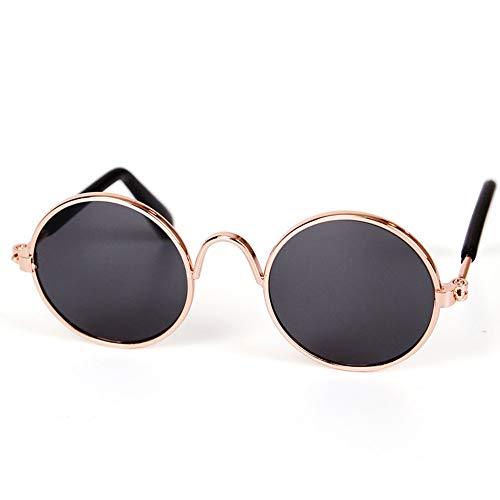 MOSHANGHUA Haustier-Sonnenbrille, rund, Metall