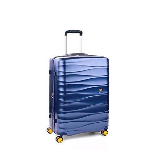 Roncato Trolley Medio M Rigido Stellar - cm 64x44x28/32 L 71/81 Espandibile Ultra-leggero Resistente Organizer Interno Chiusura TSA Garanzia 2 anni