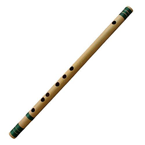 Indische Bambus-Querflöte-Basuri für Anfänger/Professional (C# Tune) Woodwind Musical Instrument 46 CM