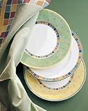 Villeroy & Boch Twist Alea Limone Frühstücksteller, 21 cm, Premium Porzellan, Weiß/Gelb