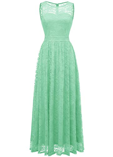 WedTrend 10007 Frauen Lace Lange Brautjungfer Kleid Party Kleid Cocktailkleid Mint S
