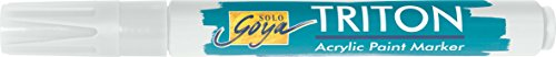 Kreul 17817 - Solo Goya Acrylic Paint Marker, mit formstabiler Keilspitze ca. 1 - 4 mm, weiß (Paint Maler, Marker)