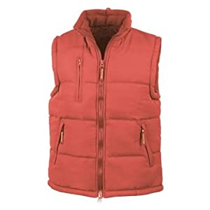 """31H1A7mPgGL. SS300  - RESULT PADDED HEAVYWEIGHT BODYWARMER - 4 COLOURS (L - 43"""", RED)"""