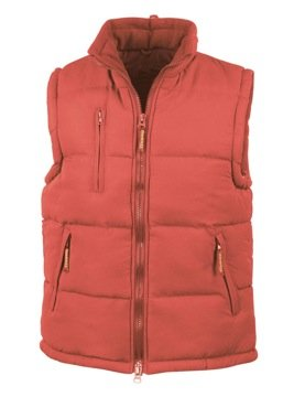 RESULT PADDED HEAVYWEIGHT BODYWARMER – 4 COLOURS (L – 43″, RED)