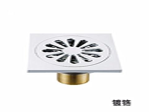 Sdkky Home matériaux de construction, Déodorant Siphon de sol, tous en cuivre Siphon de sol, 10* 10cm