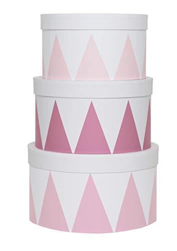 JaBaDaBaDo Aufbewahrungsboxen Rund rosa 3er Set Universalkisten Aufbewahrungskiste Universalbox Stapelboxen Pastell (Pastell-aufbewahrungsbox)