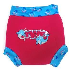TWF Couche de bain Coque réutilisable Couche lavable en néoprène bleu Magical Unicorn Whale 3-6mois