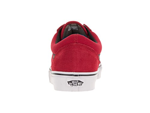 Vans Old Skool Scarpe da Skater, Basse, Unisex, Adulto (c&p) racing red/black