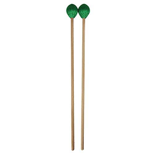 Festnight Medio Marimba Stick Bacchette per Percussioni Accessori per Strumenti Musicali Xylophone Glockensplel Bacchette con Manici Faggio