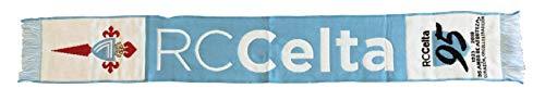R.C. Celta de Vigo BUFCEL Bufanda Telar, Sin género, Azul Celeste/Blanco, Talla única