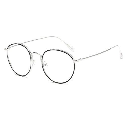 CVOO Stylish Metal Glasses Round Art Men Women Plain Frame Myopia Glasses Frames New Fashion Eyeglass Frame