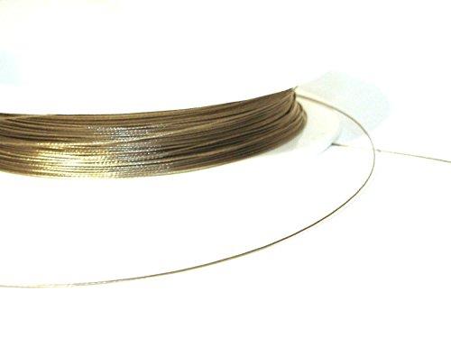 5 Meter Schmuckdraht Stahlseide SILBER 0,30 mm