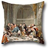Oil Painting Jean-Fran?§ois De Troy - Le D??jeuner Da€TMhu??tres Throw Cushion Covers ,best For Bar,office,sofa,outdoor,bar Seat,dinning Room 18 X 18 Inch / 45 By 45 Cm(two Sides) - Troy Home-office