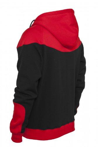 Urban Classics Herren Zip Hoodie Arrow Sweat blau Black-Red