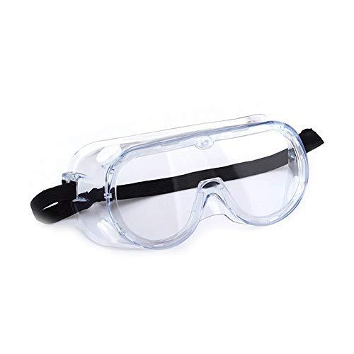 Domire 1 Stück Schutzbrille über Gläsern Anti-Fog Lab Schutzbrille Chemical Splash/Schlag Klar Augenschutz Schwimmbrillen für Schwimmen