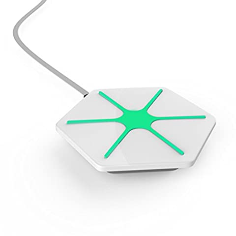 Aursen® Chargeur sans fil Glitz Chargeur avec Lumière Socle de