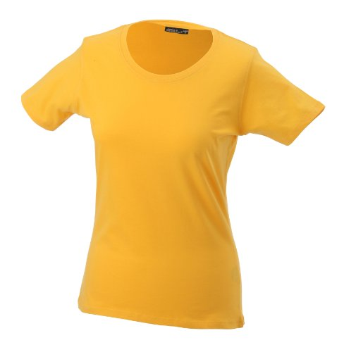 James & Nicholson Damen T-Shirt Basic XXX-Large gold-yellow