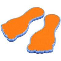 sourcingmap® 2 Stück Tragbar Trockene Haut Fußpflege Pediküre Callus Scrubber File Rasp Orange preisvergleich bei billige-tabletten.eu