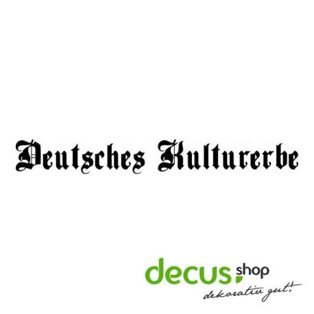 Decus DEUTSCHES KULTURERBE XL 1671 // Sticker OEM JDM Style Aufkleber