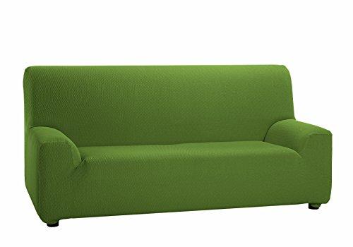 Martina home tunez copridivano elastico, tela (50% poliestere, 45% cotone, 5% elastan), verde, 3 posti da 180 a 240 cm di larghezza