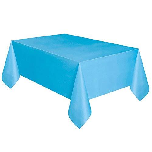 SparY 137x183cm Pur Farbe Einweg Tischdecke Kinder Alles Gute Zum Geburtstag Hochzeit Party Tischdecke Vorräte Weiß Schwarz Rot Gelb (137 183cmRed) - Blau, 137 183cm