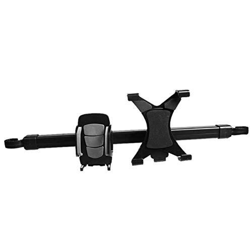 fish 2 in 1 universal car Tablet pc Phone Holder Rack 360 Degree seat headrest Mount Stand Bracket for ipad Mobile Phone,Black 2 Headrest Mount