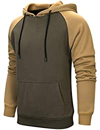 27d88b58b035 MANLUODANNI Men s Pullover Hoodies Hooded Sweatshirt Patchwork Top Casual  Hoody with Kanga Pocket